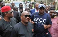 Fayose storms EFCC office with 'EFCC I'm Here' T-shirt
