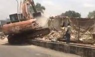 FCT officials demolish Dokpesi's structures in Abuja