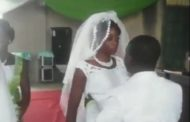 PHOTOS: Drama as angry Bride refuses to Kiss the groom in church during their wedding ceremony