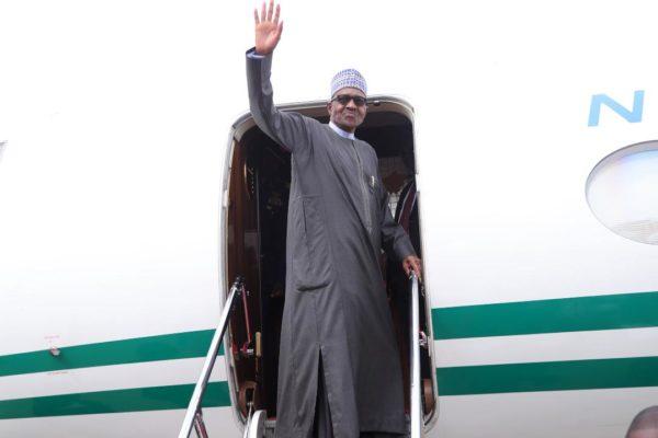Buhari departs for Ghana