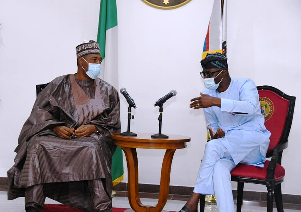 Sanwo-Olu receives Borno Governor, N'East leaders on solidarity visit