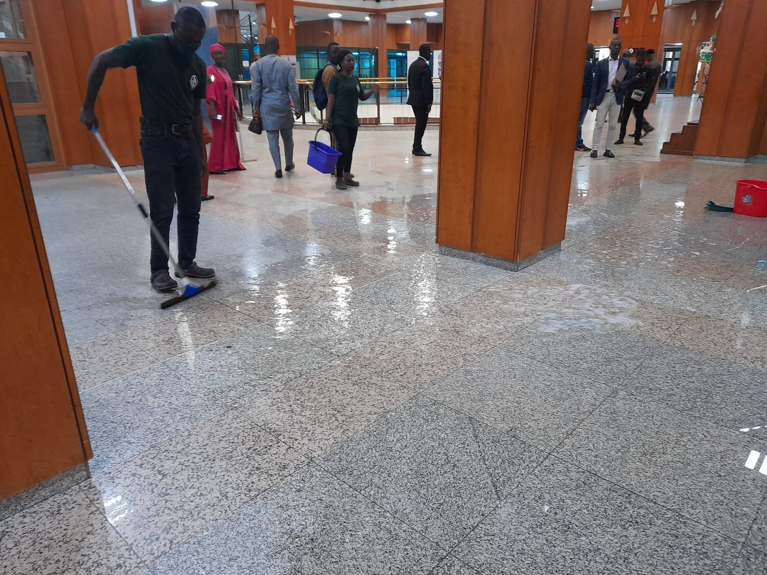 Again, National Assembly flooded as complex roofs continue to leak